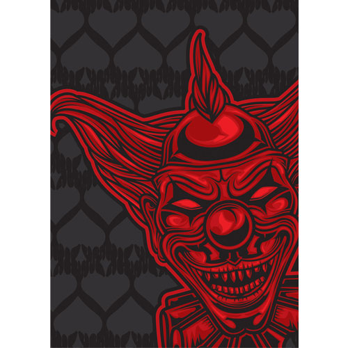 Red Devil Clown Halloween A3 Poster PVC Party Sign Decoration 42cm x 30cm Product Gallery Image