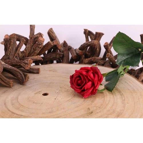 Red Diamond Rose Artificial Silk Flower 40cm