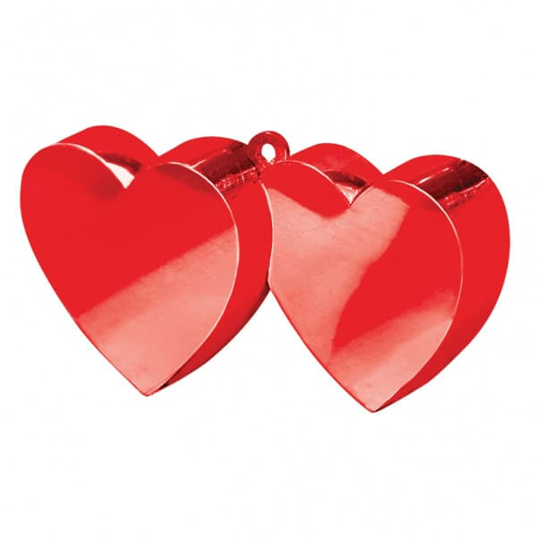 Red Double Heart Balloon Weight Bundle Product Image
