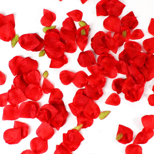 Red Fabric Rose Petals