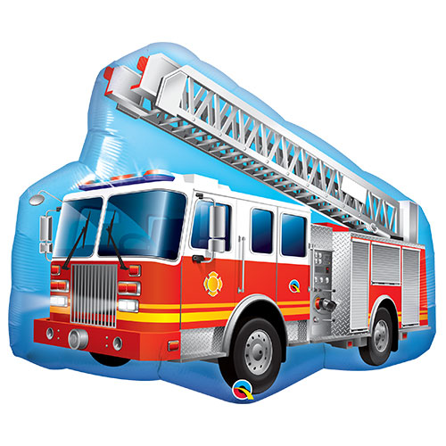 Red Fire Truck Helium Foil Giant Qualatex Balloon 91cm / 36  in Product Image