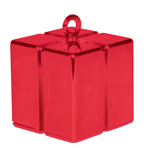 Red Gift Box Balloon Weight 110g Product Image