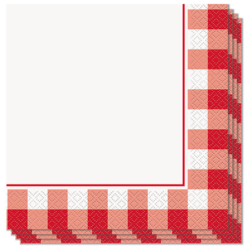 Red Gingham Luncheon Napkins 33cm 2Ply - Pack of 16 Product Image