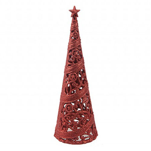 Red Glitter Decorative Christmas Tree 24cm Product Image