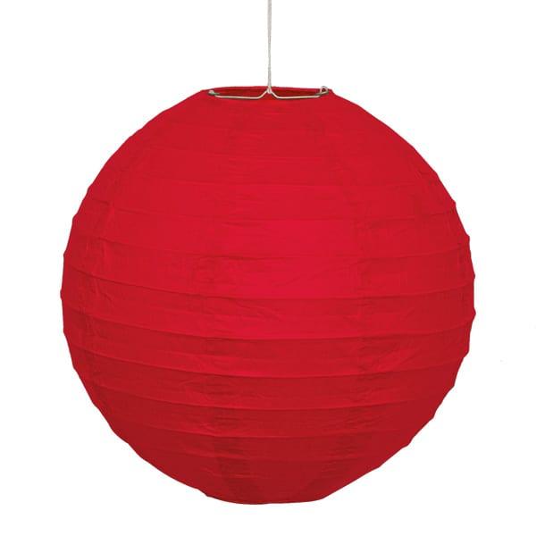 Red Hanging Round Paper Lantern 25cm Product Image