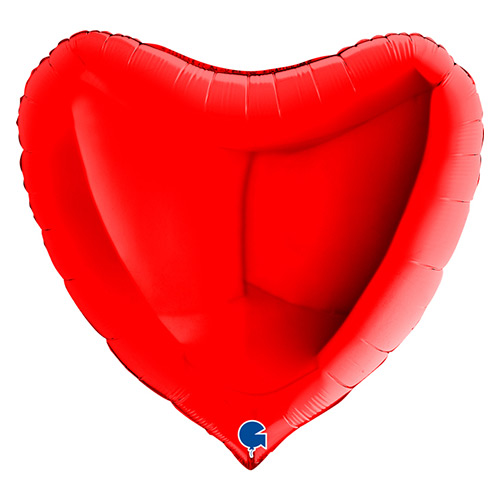 Red Heart Shape Foil Helium Giant Balloon 91cm / 36 in Product Image