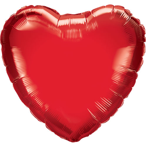 Red Heart Shape Air Fill Foil Qualatex Balloon 23cm Product Image