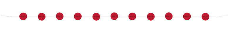Red Honeycomb Ball Garland - 213cm Product Image