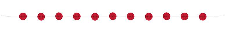 Red Honeycomb Ball Garland - 213cm