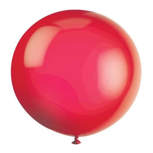 Red Jumbo Biodegradable Latex Balloon - 91cm Product Image