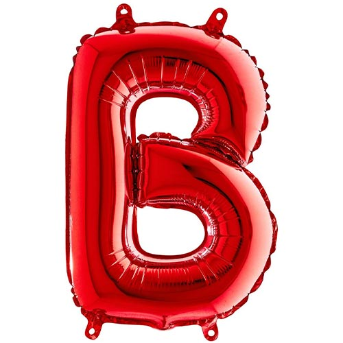 Red Letter B Air Fill Foil Balloon 35cm / 14 in Product Image