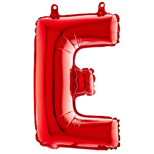 Red Letter E Air Fill Foil Balloon 35cm / 14 in Product Image