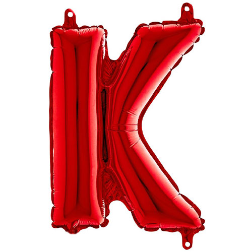 Red Letter K Air Fill Foil Balloon 35cm / 14 in Product Image