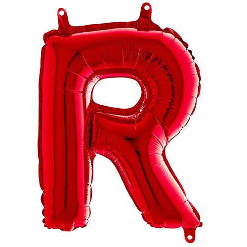 Red Letter R Air Fill Foil Balloon 35cm / 14 in Product Image