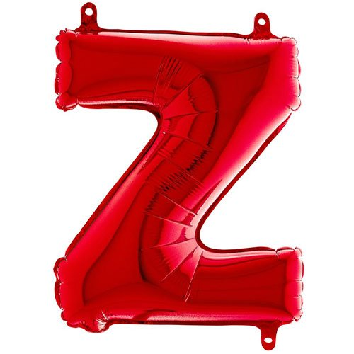 Red Letter Z Air Fill Foil Balloon 35cm / 14 in Product Image