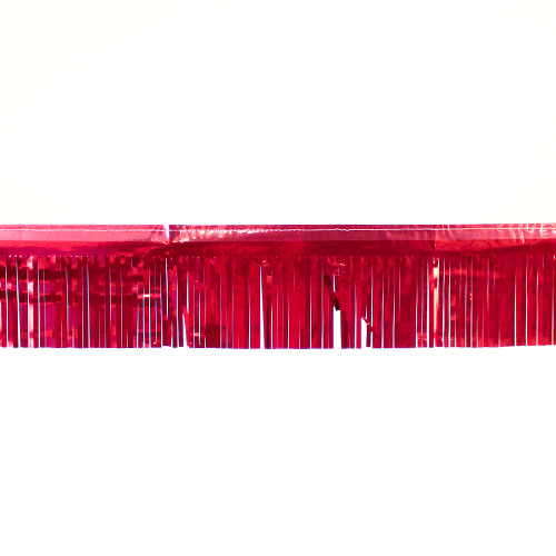 Red Metallic Foil Fringe Garland Decoration 5.5m / 18ft