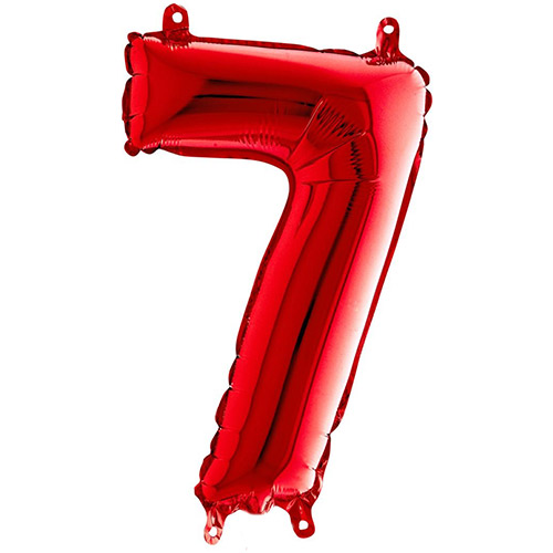 Red Number 7 Air Fill Foil Balloon 36cm / 14 in