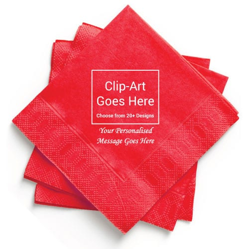 Red Personalised Napkin - Pack of 50