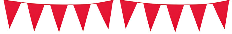 Red Plastic Pennant Bunting 10m