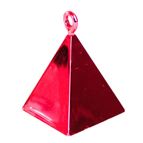 Red Pyramid Balloon Weight Product Image