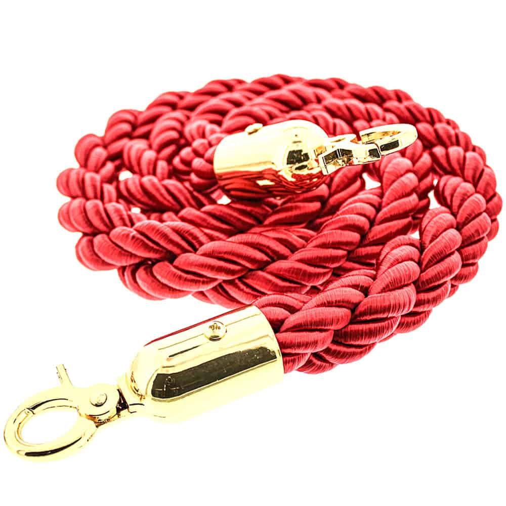 Red Braided Rope with Brass Hooks Product Image