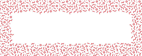 Red Squiggle Design Small Personalised Banner - 4ft x 2ft