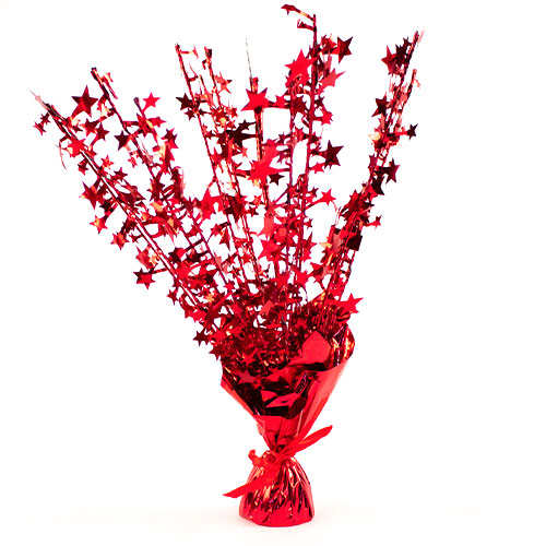 Red Star Balloon Weight Centrepiece 36cm Product Image