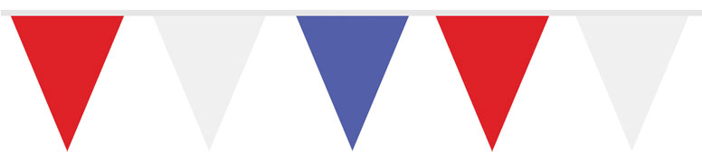 Red White and Blue Triangle Flag Bunting – 7m Product Image
