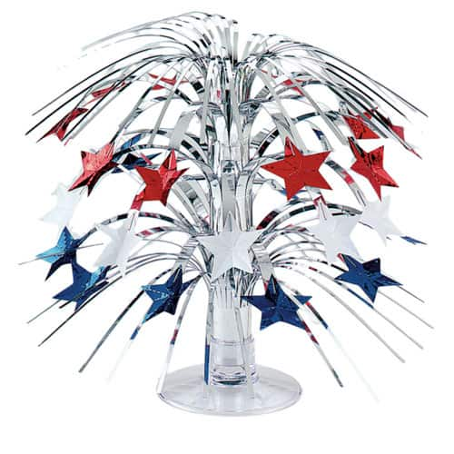 Red White And Blue Star Cascade Centrepiece - 21cm Product Image