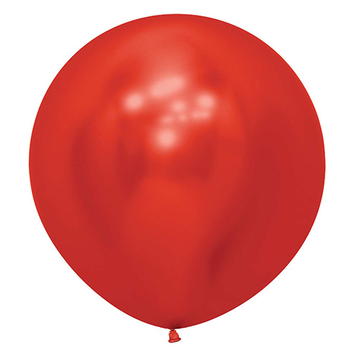 Reflex Crystal Red Biodegradable Latex Balloons 60cm / 24 in - Pack of 3 Product Image