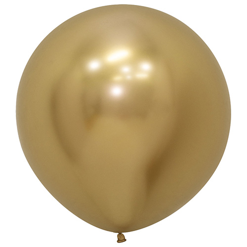 Reflex Gold Biodegradable Latex Balloons 60cm / 24 in - Pack of 3 Product Image
