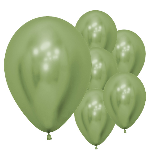 Reflex Lime Green Biodegradable Latex Balloons 30cm / 12 in - Pack of 50 Product Image