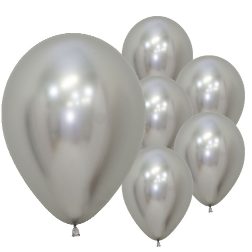 Reflex Silver Biodegradable Latex Balloons 30cm / 12 in - Pack of 50 Product Image