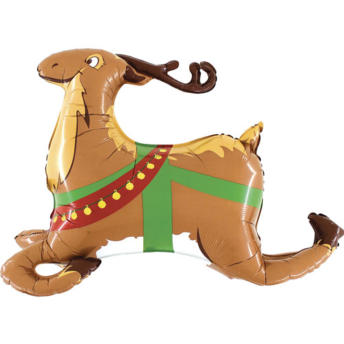 Reindeer Christmas Helium Foil Giant Balloon 109cm / 43 in Product Image
