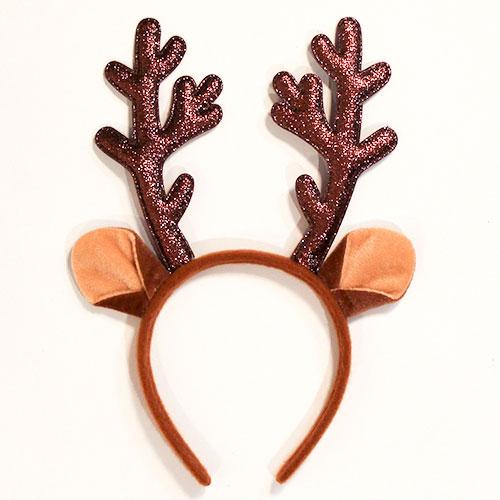 Reindeer Glitter Antlers Headband Christmas Fancy Dress
