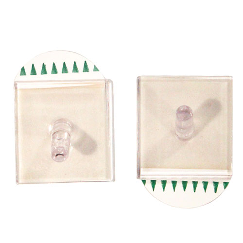 Removable Clear Square Plastic Hooks - Pack of 2 Product Image