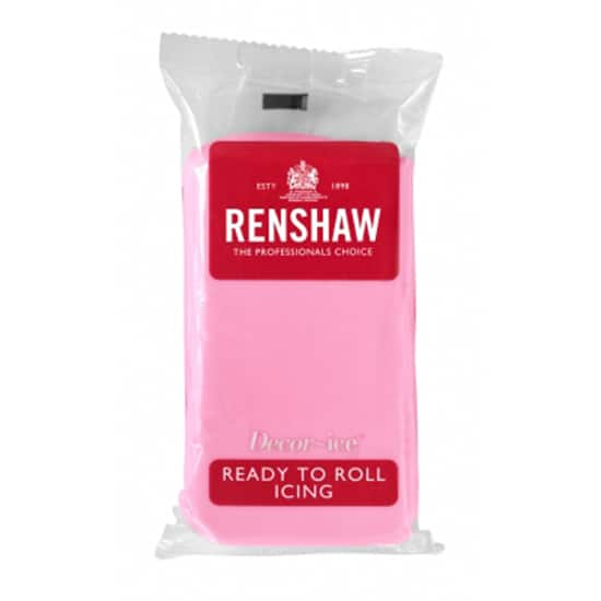 Renshaw Pink Ready To Roll Icing - 250g