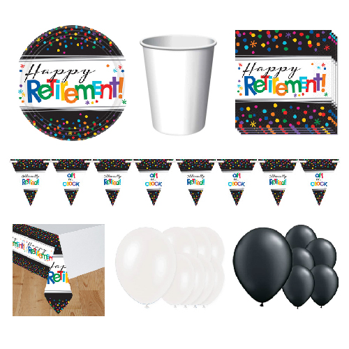 Retirement 16 Person Deluxe Party Pack Product Image