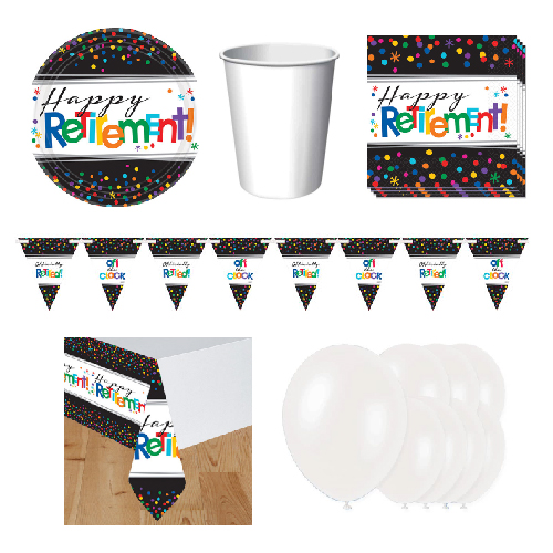 Retirement 8 Person Deluxe Party Pack Product Image