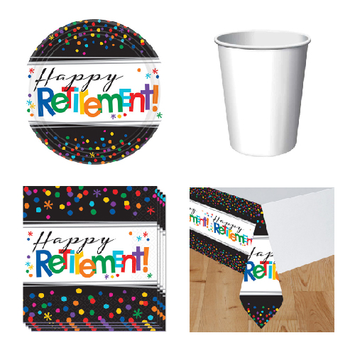 Retirement 8 Person Value Party Pack