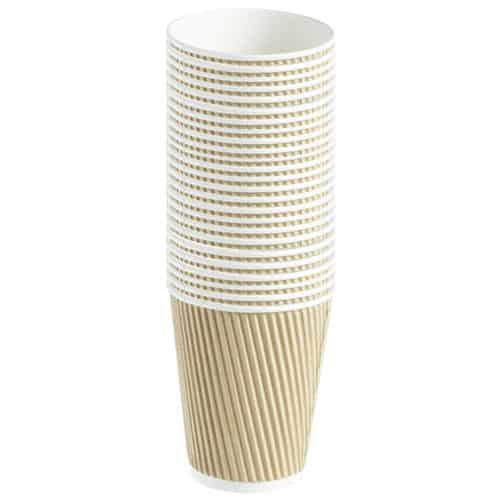 Ribbed Paper Hot Drinks Cup - 340ml - Pack Of 25