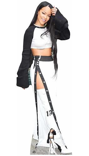 Rihanna Black and White Lifesize Cardboard Cutout 174cm Product Image
