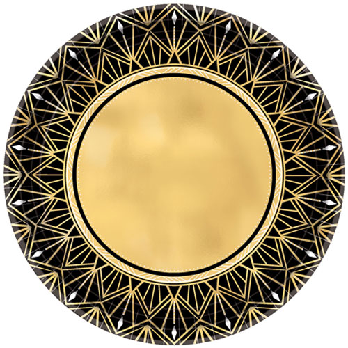 Roaring Metallic Round Paper Plates 26cm - Pack of 8