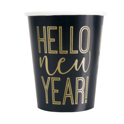 Roaring New Year Paper Cups 270ml - Pack of 8