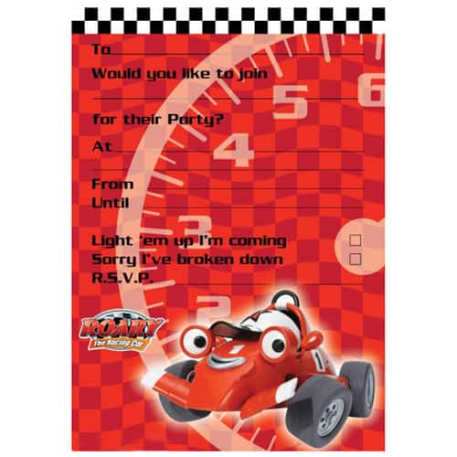 Roary The Racing Car Invitations with Envelopes- Pack of 20 Product Image
