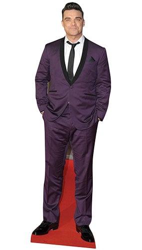 Robbie Williams Purple Suit Lifesize Cardboard Cutout - 185cm Product Image