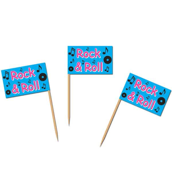 Rock and Roll Party Food Picks - Pack of 50 Product Image