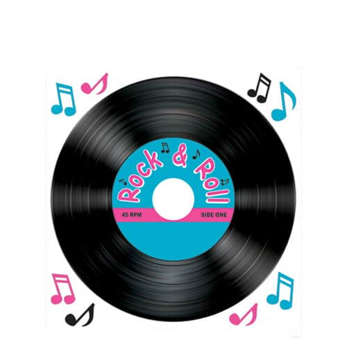 Rock and Roll Record Peel-N-Place Product Image