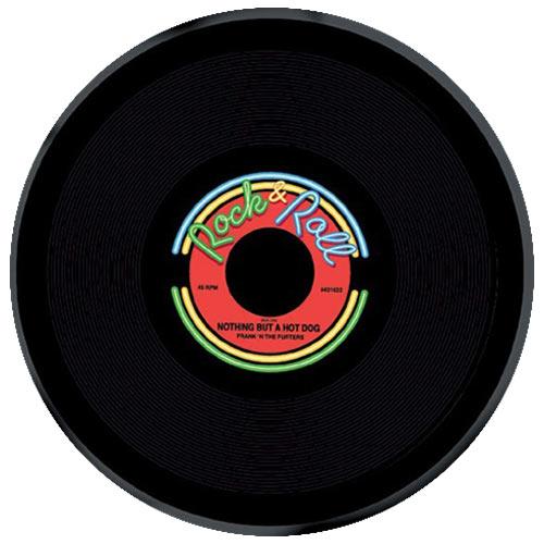 Rock & Roll Round Reusable Plastic Platter 27cm