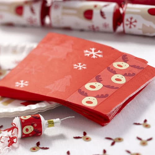 Christmas Rocking Rudolf Luncheon Napkins 33cm 3Ply - Pack of 16 Product Image